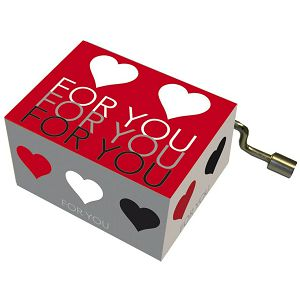 Kutija glazbena For You with hearts melodija: Happy Birthday Fridolin 584025