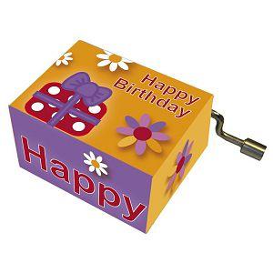 Kutija glazbena Parcels and blossoms melodija: Happy Birthday Fridolin 584117
