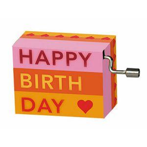 Kutija glazbena Stripes with hearts melodija: Happy Birthday Fridolin 584049