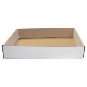 KUTIJA KARTONSKA 500x400x90mm, za kolače i krafne, bijela
