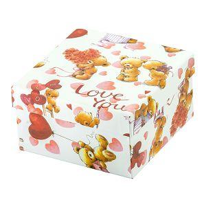 Kutija poklon mala 4motiva 12,5x12,5x7,5 cm