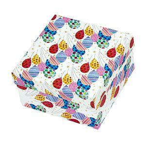 Kutija poklon mala Ballons 12,2x12,2x7,5 cm