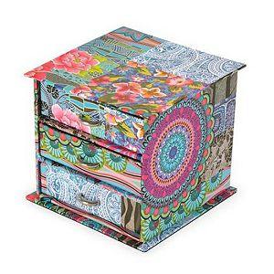 Kutija za nakit sa ladicama 11x11x10 cm Alistair indian