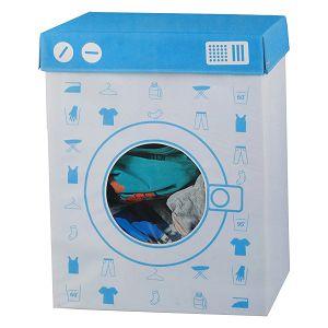 Kutija za odjeću platnena 44.5x34x56cm plava