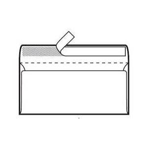 Kuverta 11x23cm Bez prozora strip 80gr Blasetti,bijela 500/1