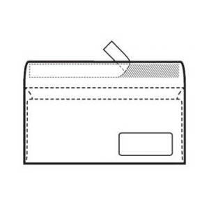 Kuverta 11x23cm Desni prozor strip 90gr Blasetti,bijela