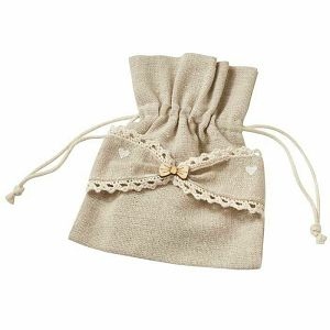 Lanena vrećica mašna 11 x 13 cm