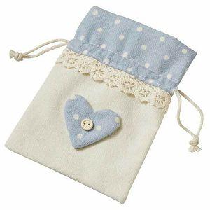 Lanena vrećica plava 10 x 13 cm