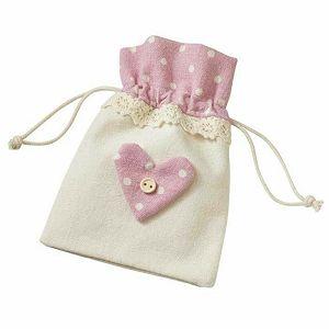 Lanena vrećica roza 10 x 13 cm