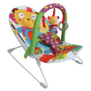 LJULJAČKA za bebe JUNGLE s glazbom i visećim igračkama PrimeToys 169559