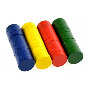 Magnet fi15mm x 5mm debljina, u boji, pak. 40/1 Fandy 572657