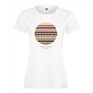 Majica ženska Ethno Croatia KR 160 g bijela XL