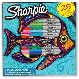 MARKER SHARPIE Fine širina linije cca 1.0mm, okrugli vrh, razne boje 28/1
