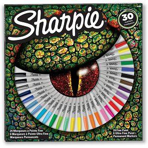 MARKER SHARPIE Fine širina linije cca 1.0mm, okrugli vrh, razne boje 30/1