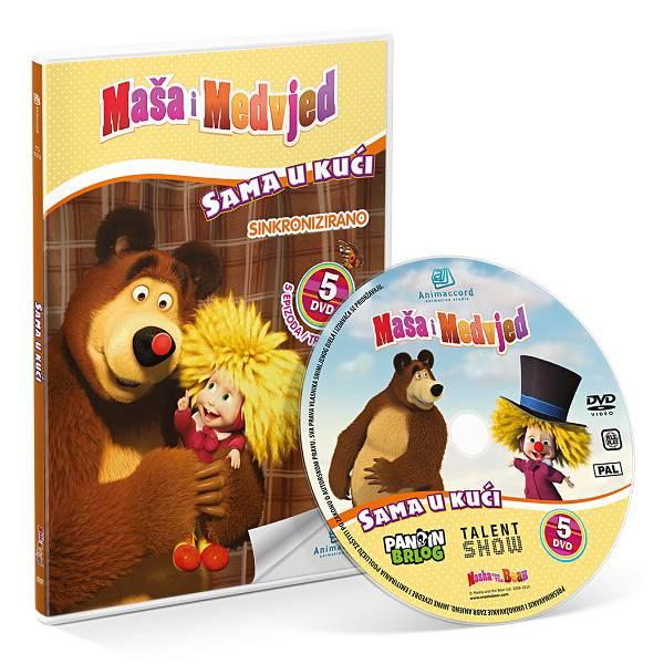 Maša i Medvjed DVD 5 - Sama u kući 850741