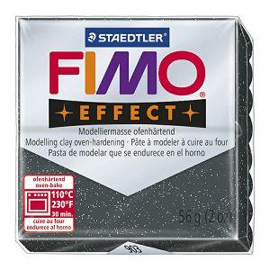 Masa za modeliranje 56g Fimo Effect Staedtler 8020-903 glitter crna