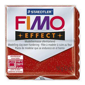 Masa za modeliranje 56g Fimo Effect Staedtler 8020-202 glitter crvena