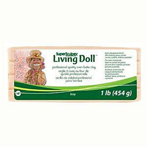 MASA ZA MODELIRANJE Sculpey LIVING DOLL bež 454g