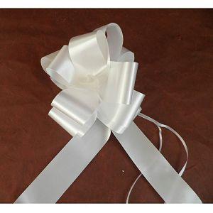 Mašna potezna 5cm pastel 1kom bijela