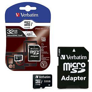 Memorijska kartica SD 32GB micro SDXC, Class 10 UHS-I + adapter, Verbatim