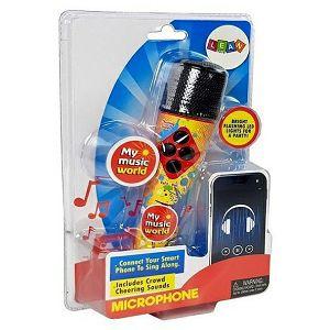 MIKROFON ZA KARAOKE zvuk, svijetlo, žuti Lean Toys 454178