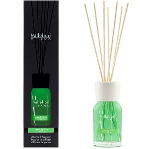 MILLEFIORI natural 100ml, DIFUZOR sa štapićima, miris.Green Fig&Iris 7MDGI