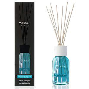 MILLEFIORI natural 100ml, DIFUZOR sa štapićima, miris.Mediterranean Bergamot 7MDBM