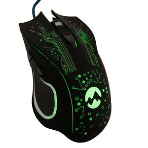 Miš EVEREST SM-790, 3200 DPI, USB, žičani, crni