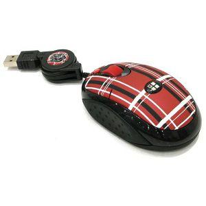MIŠ G-CUBE GOP-20P/R optički, 3 tipke+kotačić, USB, kabel sa namatanjem karirano crveni, karirano rozi