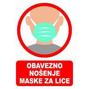 NALJEPNICA A5 pvc (Obavezna maska za lice)