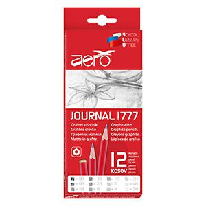 Olovka drvena AERO 1777 Journal 12/1 8B,6B,4B,3B,2B,B,HB,F,H,2H,4H,5H