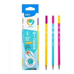 Olovka drvena Deli DIU53000 U-Touch trokutasta HB više boja
