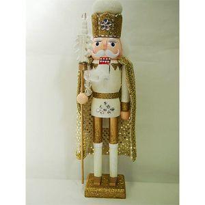 ORAŠAR DRVENI 38cm kralj s plaštem, zlatni 001053
