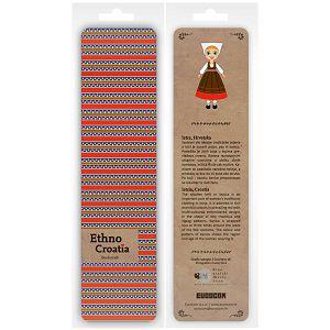 Označivač stranica kartonski 4.5 x 17.5cm Ethno Croatia Istra