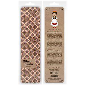 Označivač stranica kartonski 4.5 x 17.5cm Ethno Croatia Konavle