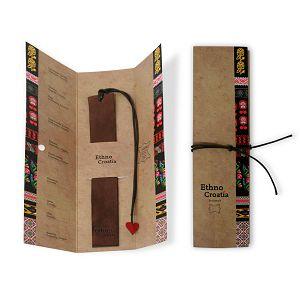 Označivač stranica kožni 2,5 x 17cm Ethno Croatia