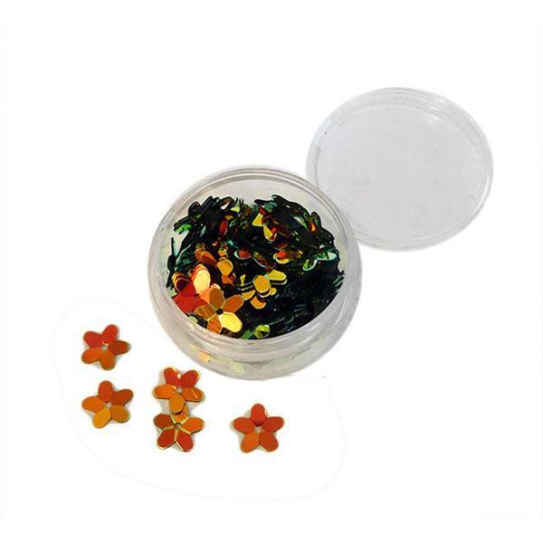 Paillette cvjetići zlatni 8mm/6g