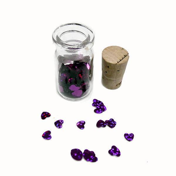 Paillette srca lila