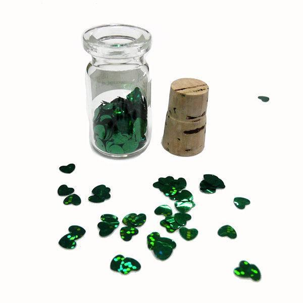 Paillette srca zelena
