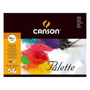 PALETA PAPIRNATA slikarska 24x32cm/40L 95gr Canson