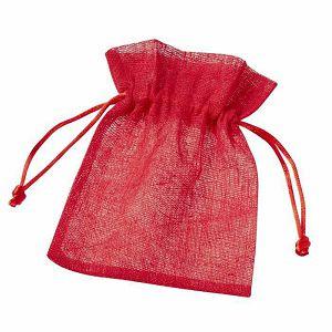 Pamučna vrećica crvena 10 x 13 cm