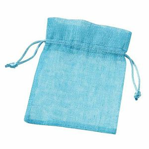 Pamučna vrećica tirkiz 10 x 13 cm