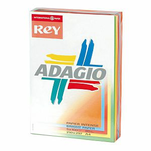Papir Adagio Intenziv boje MIX A4 80gr 500/1