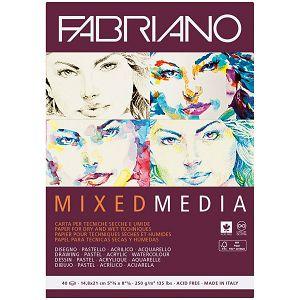 PAPIR FABRIANO Mixed Media 14.8x21.0cm, 250gr/40L 19100502