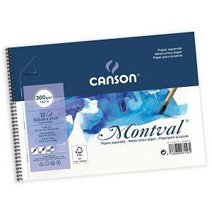 Papir slikarski akvarel 13.5x21cm 300gr/12Lista Canson Montval