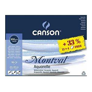 PAPIR SLIKARSKI akvarel 24x32cm 300gr/12+4L Canson Montval