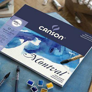 Papir slikarski akvarel 24x32cm 300gr/12Lista Canson Montval