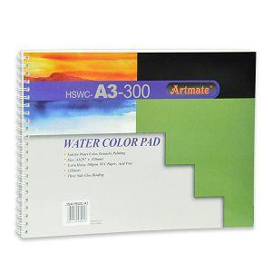 Papir slikarski akvarel 30x42cm 300gr 12L Artmate