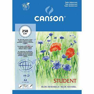 Papir slikarski akvarel Canson Student A4 250gr 10L