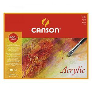 PAPIR SLIKARSKI za akril 32x41cm 400gr/10L Canson Acrylic